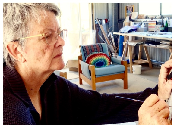 Cath in her studio